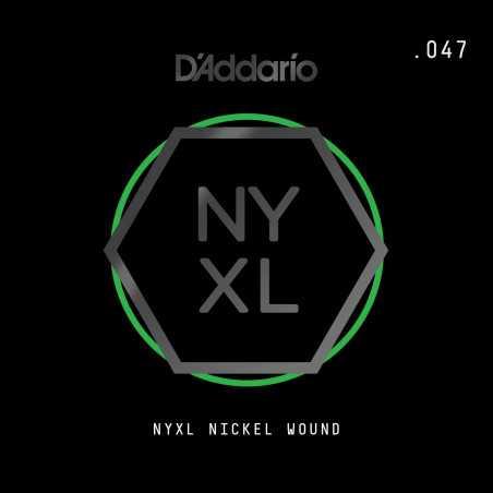 D'Addario NYXL Nickel Wound Electric Guitar Single String, .047