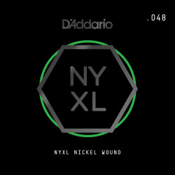 D'Addario NYXL Nickel Wound Electric Guitar Single String, .048