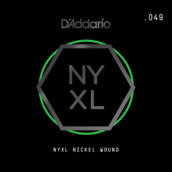 D'Addario NYXL Nickel Wound Electric Guitar Single String, .049