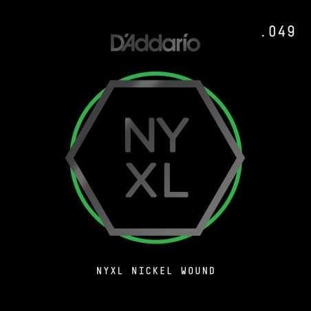 D'Addario NYXL Nickel Wound Electric Guitar Single String, .049