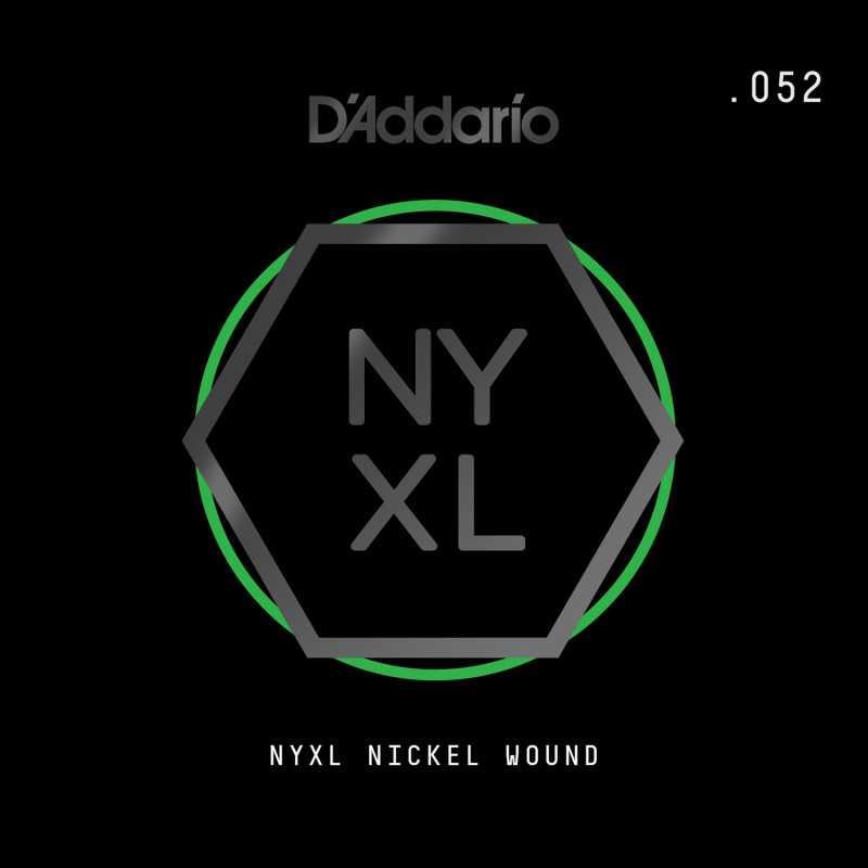 D'Addario NYXL Nickel Wound Electric Guitar Single String, .052