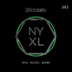 D'Addario NYXL Nickel Wound Electric Guitar Single String, .063