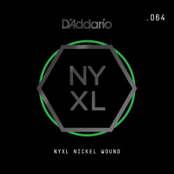 D'Addario NYXL Nickel Wound Electric Guitar Single String, .064