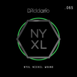 D'Addario NYXL Nickel Wound Electric Guitar Single String, .065