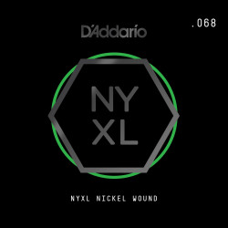 D'Addario NYXL Nickel Wound Electric Guitar Single String, .068