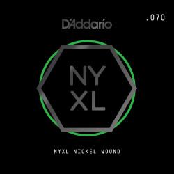 D'Addario NYXL Nickel Wound Electric Guitar Single String, .070