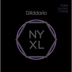 D'Addario NYXL1164 Nickel Wound 7-String Electric Guitar Strings, Medium, 11-64