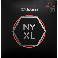 D'Addario NYXL1238PS Nickel Wound Pedal Steel Guitar Strings, Custom Light, 12-38