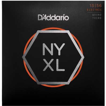 D'Addario NYXL1356W Nickel Wound Electric Guitar Strings, Medium Wound 3rd, 13-56