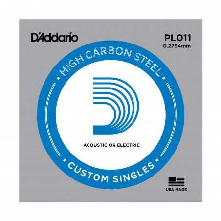 D'Addario PL011 Plain Steel Guitar Single String, .011