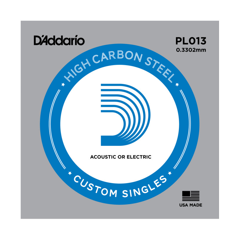 D'Addario PL013 Plain Steel Guitar Single String, .013