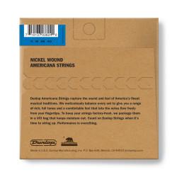 Corde de Mandoline Moyenne en Acier Plaqué Nickel, Jeu de 8, Calibre .011
