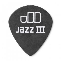 0.50mm Tortex® Pitch Black Jazz III Guitar Pick (12/pack)