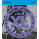 D'Addario EXL115 Nickel Wound Electric Guitar Strings, Medium/Blues-Jazz Rock, 11-49