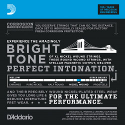 D'Addario EXL140-10P Nickel Wound Electric Guitar Strings, Light Top/Heavy Bottom, 10-52, 10 sets
