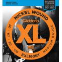 D'Addario EXL160BT Nickel Wound Bass Guitar Strings, Balanced Tension Medium, 50-120