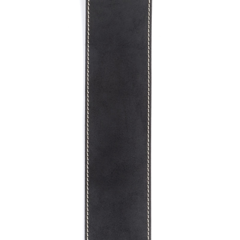 Planet Waves Stonewashed Leather Guitar Strap with Contrast Stitch, Black