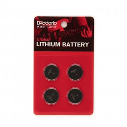 D'Addario CR2032 Lithium Battery, 4-pack