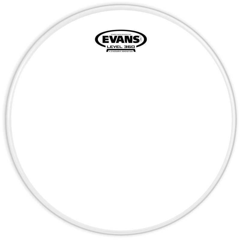 Evans Power Center Reverse Dot Drum Head, 14 Inch