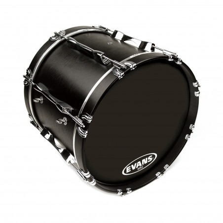 Evans MX2 Black Marching Bass Drum Head, 16 Inch
