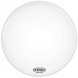 Evans EQ3 Resonant Smooth White Bass Drum Head, No Port, 16 Inch