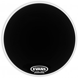 Evans Resonant Black Bass Drum Head, 18 Inch