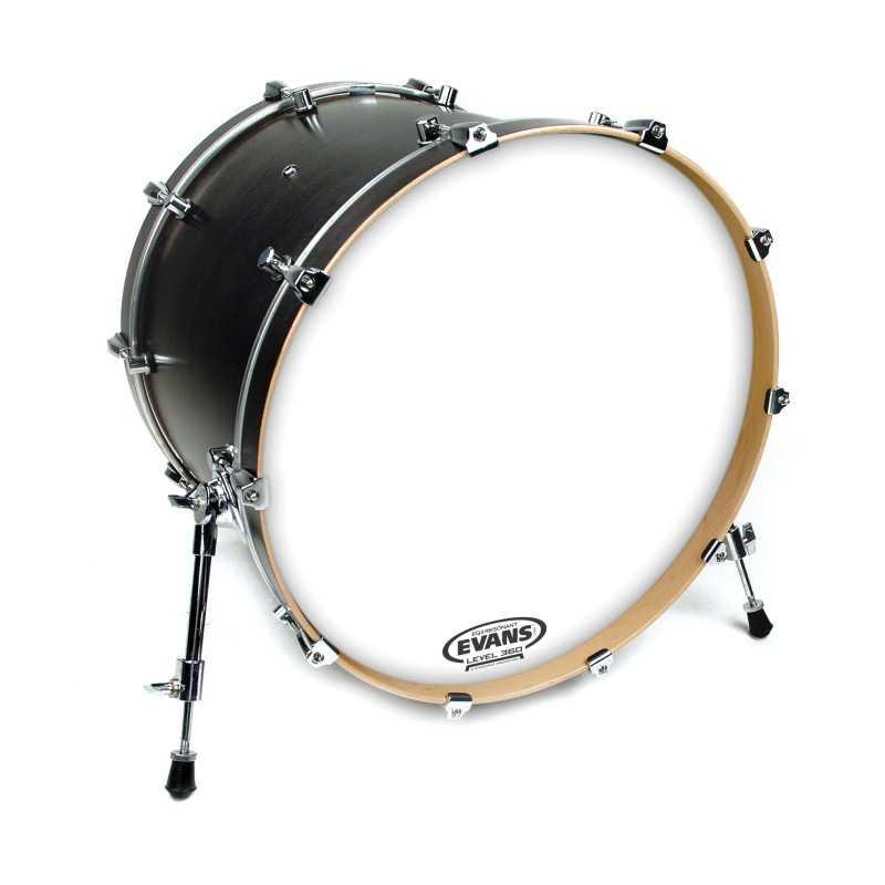 Evans EQ3 Resonant Coated White Bass Drum Head, No Port, 18 Inch