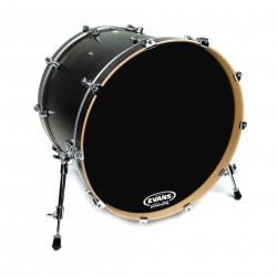 Evans Resonant Black Bass Drum Head, 20 Inch