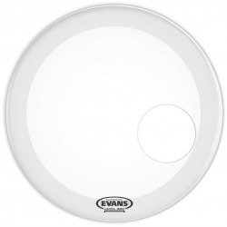 Evans EQ3 Resonant Coated White Bass Drum Head, 20 Inch