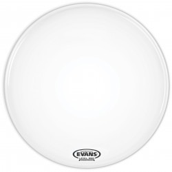 Evans EQ3 Resonant Coated White Bass Drum Head, No Port, 20 Inch