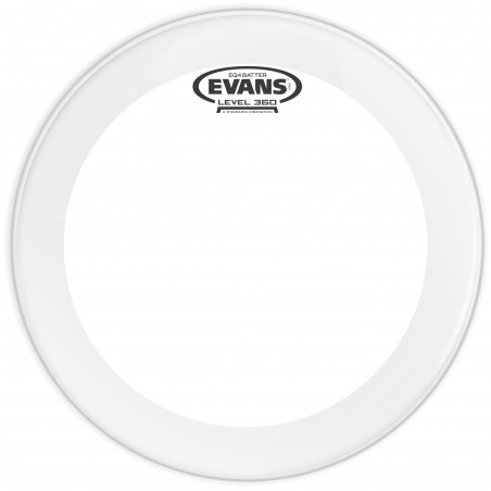 Evans EQ4 Frosted Bass Drum Head, 22 Inch