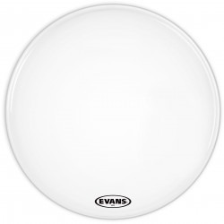 Evans MX2 White Marching Bass Drum Head, 22 Inch