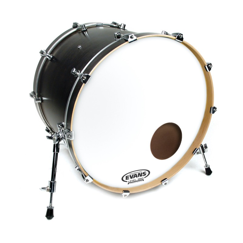 Evans EQ3 Resonant Coated White Bass Drum Head, 22 Inch