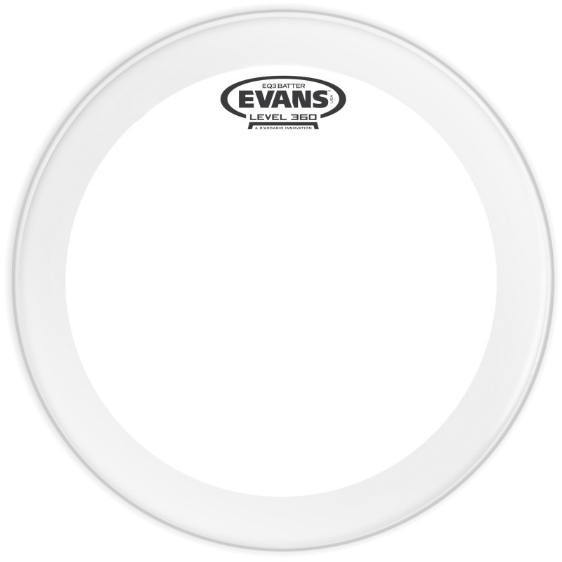 Evans EQ3 Clear Bass Drum Head, 24 Inch