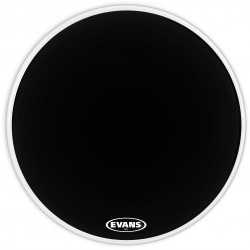 Evans MX1 Black Marching Bass Drum Head, 24 Inch