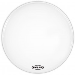 Evans MX1 White Marching Bass Drum Head, 24 Inch
