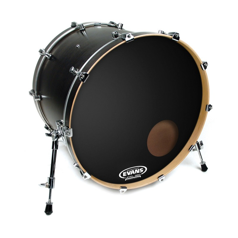 Evans EQ3 Resonant Black Bass Drum Head, 24 Inch