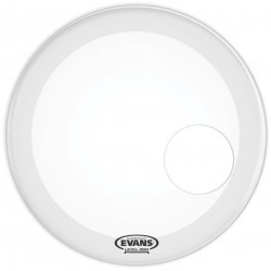 Evans EQ3 Resonant Coated White Bass Drum Head, 24 Inch