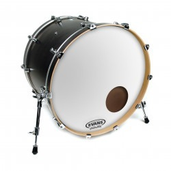Evans EQ3 Resonant Smooth White Bass Drum Head, 24 Inch