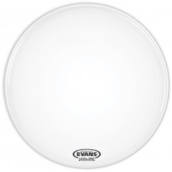 Evans EQ3 Resonant Smooth White Bass Drum Head, No Port, 24 Inch