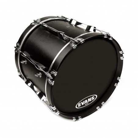 Evans MX2 Black Marching Bass Drum Head, 26 Inch