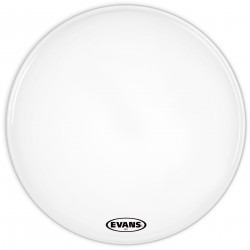 Evans MS1 White Marching Bass Drum Head, 32 Inch