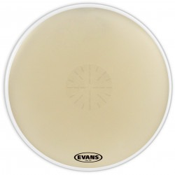 Evans Strata 1400  Power Center Reverse Dot Concert Bass Drum Head, 36 Inch