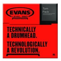 Evans Black Chrome Tompack, Standard (12 inch,  13 inch,  16 inch)