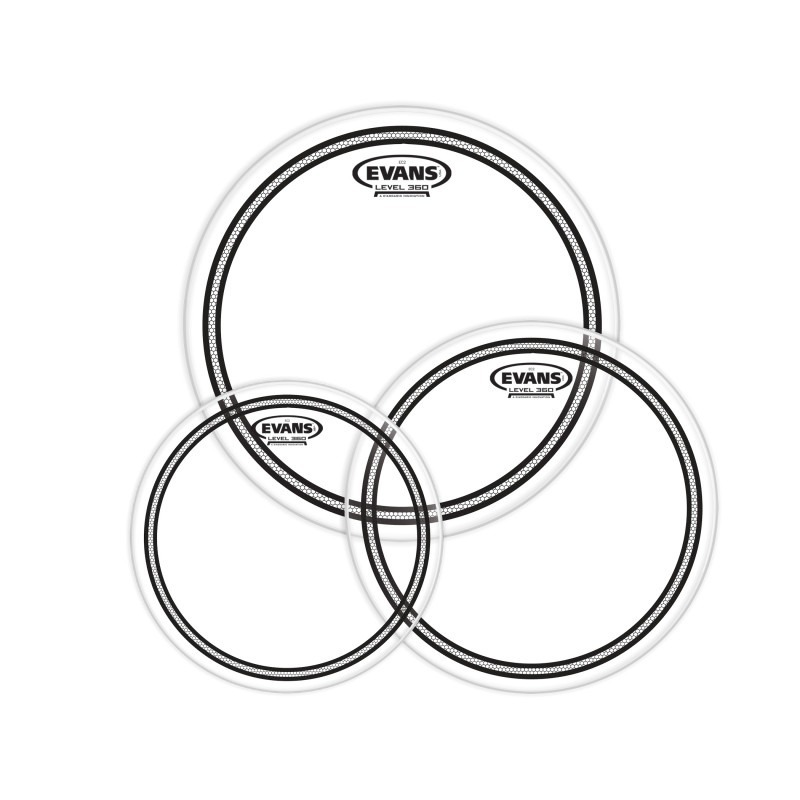 Evans EC2 Tompack, Clear, Fusion (10 inch, 12 inch, 14 inch)