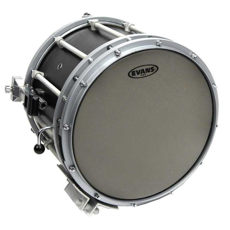Evans Hybrid Grey Marching Snare Drum Head, 14 Inch