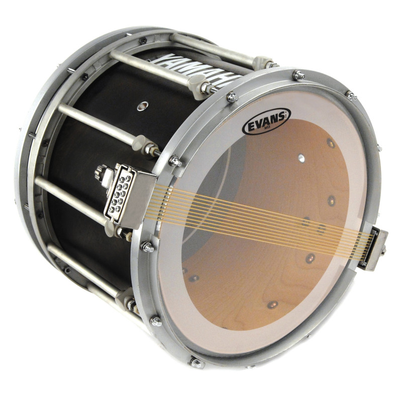 Evans MS3 Clear Marching Snare Side Drum Head, 14 Inch
