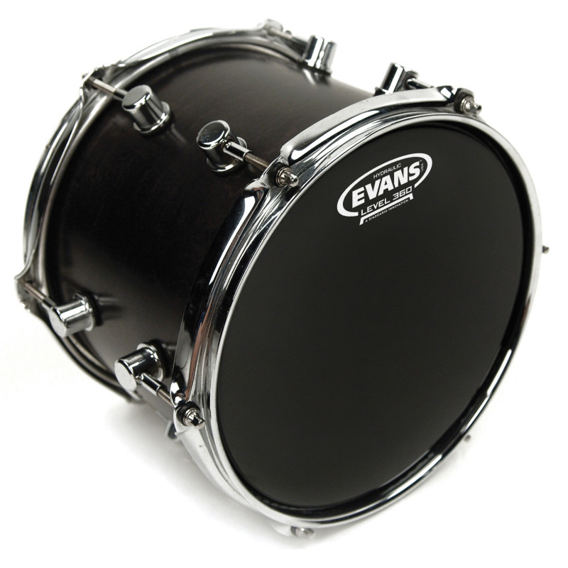 Evans Hydraulic Black Drum Head, 8 Inch
