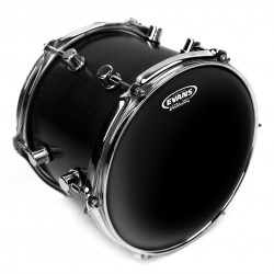 Evans Black Chrome Drum Head, 12 Inch
