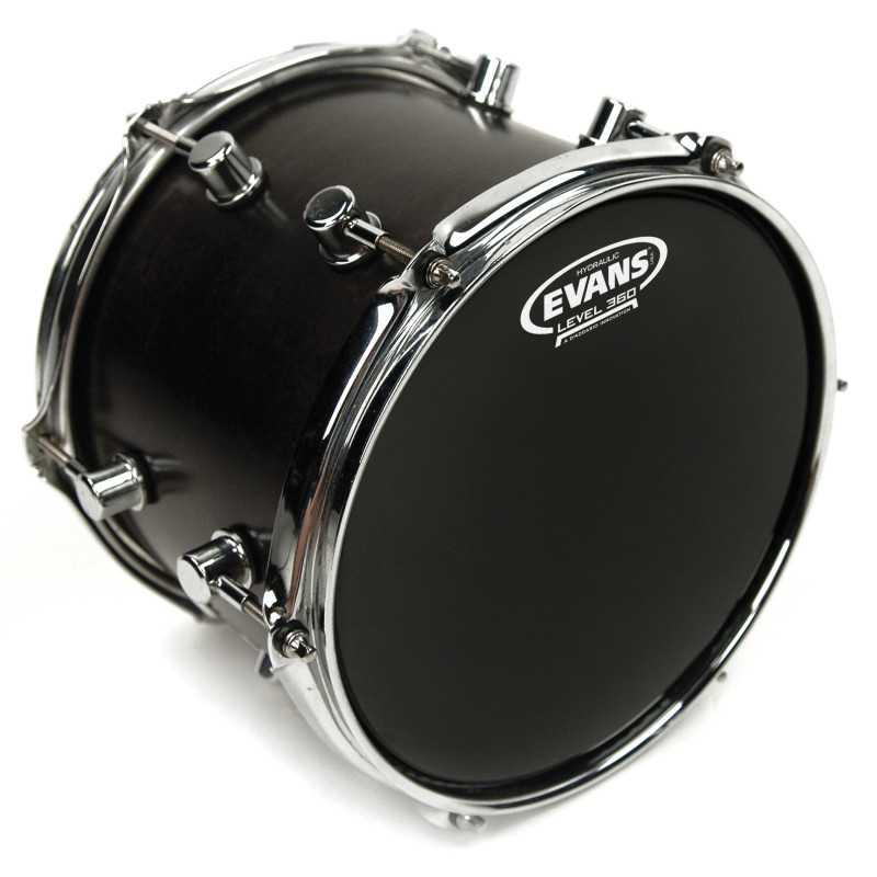 Evans Hydraulic Black Drum Head, 12 Inch